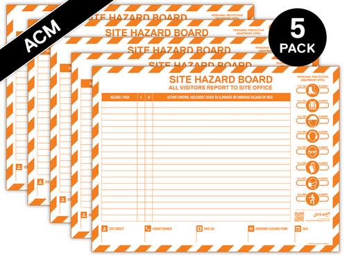 Custom Branded ACM Hazard Board - 5 Pack
