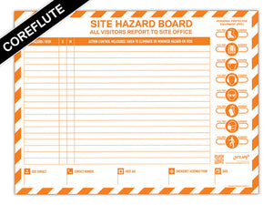 Custom Branded Coreflute Hazard Board
