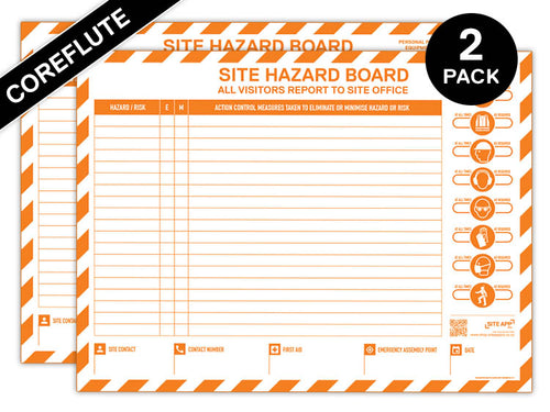 Custom Branded Coreflute Hazard Board - 2 Pack