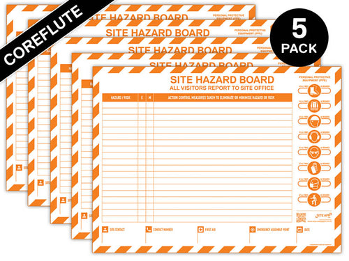 Custom Branded Coreflute Hazard Board - 5 Pack