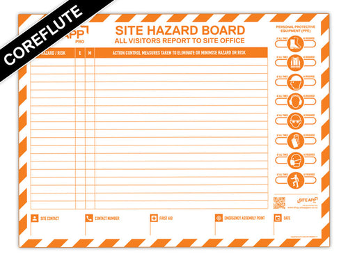 SAP Branded Coreflute Hazard Board