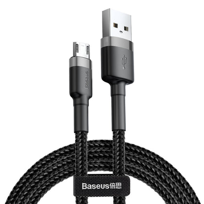 Cafule Braided Micro USB Cable | 2m | Black | Baseus supertech.pk