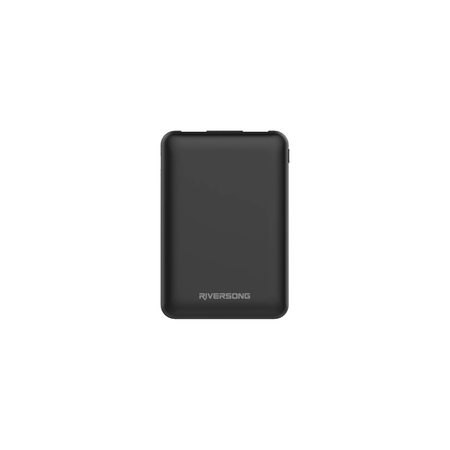 NEMO 05 5000mAh 2.1A Cable Charging Power Bank | Black | Riversong supertech.pk