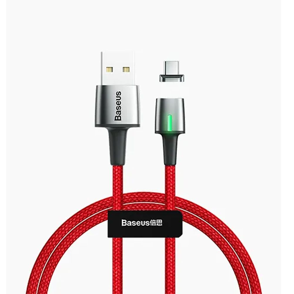Zinc Magnetic Type-C Cable | 1m & 2m | Red | Baseus supertech.pk