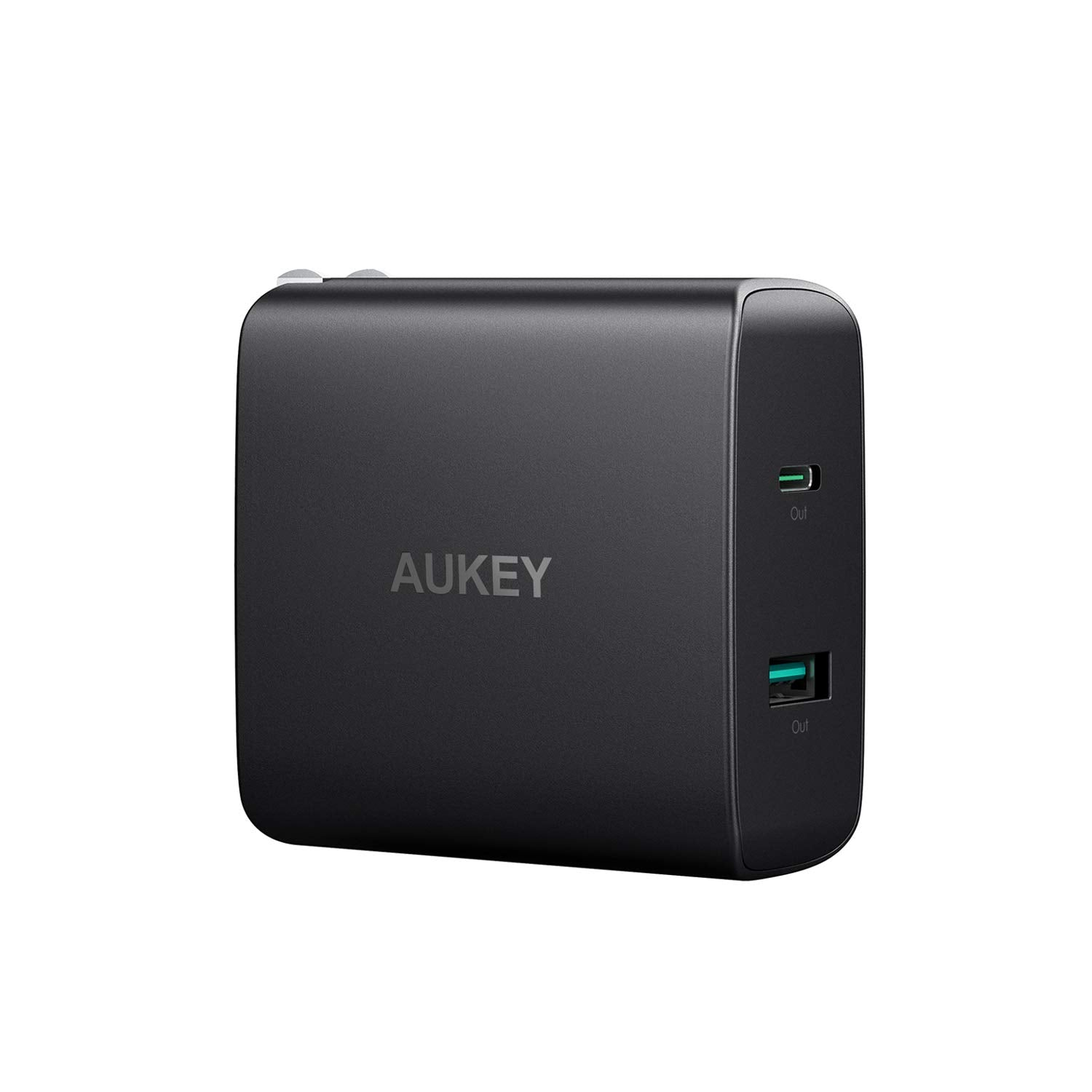 USB C Charger with 56.5W Wall Charger, One 46W Power Delivery 3.0 & 5V / 2.1A Ports USB Wall Charger | PA-Y10 | Black | Aukey supertech.pk