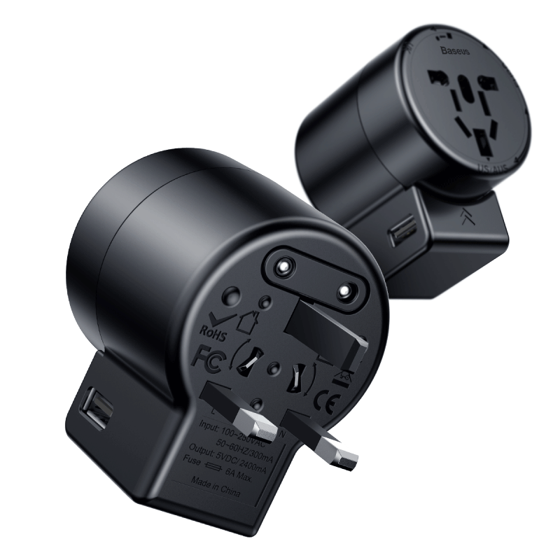 Rotation Type Universal Charger | Black | Baseus supertech.pk