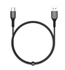 USB A To USB C Quick Charge 3.0 Kevlar Cable | 2M | CB-AKC2 | Black | Aukey  supertech.pk