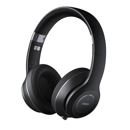 Foldable On-Ear Wireless Headphones with 18-Hour Playtime and Built-in Microphone | EP-B52 | Black | Aukey supertech.pk