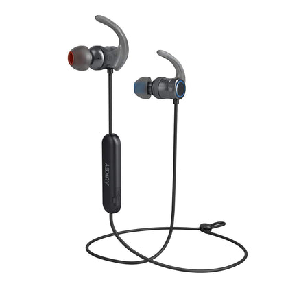 Magnetic Wireless Bluetooth Sport Earbuds with aptX | EP-B67 | Black - Aukey supertech.pk