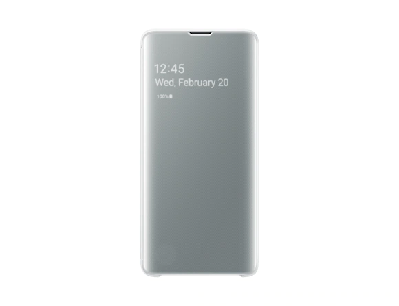 Galaxy S10 Clear View Cover | White | Samsung supertech.pk