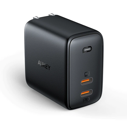 Omnia Duo 65W Dual-Port PD Charger with Dynamic Detect | PA-B4 | Black | Aukey supertech.pk
