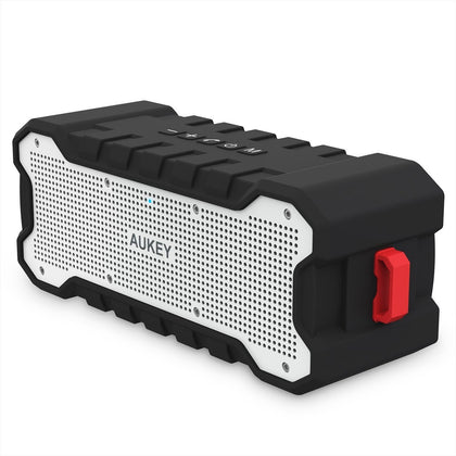 Bluetooth Wireless Speaker with 30-Hour Playtime, Enhanced Bass, Water Resistant | SK-M12 | Black | Aukey supertech.pk