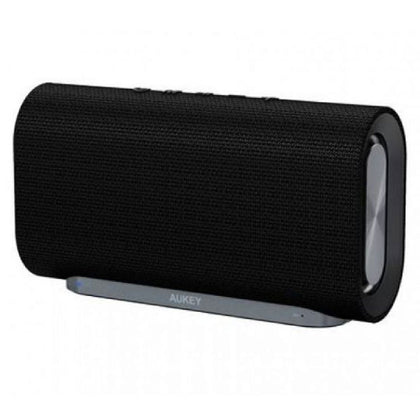 Eclipse Wireless Speaker 20 W with 12 Hours Playtime, Enhanced Bass with Dual Passive Radiators/Subwoofers and Woven Fabric Surface for Echo Dot | SK-M30 | Black | Aukey supertech.pk