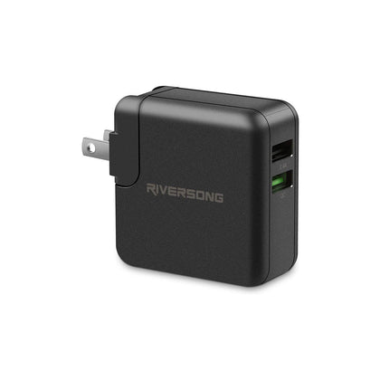 POWER KUB QC 3.0 Fast Charging Wall Charger | Black | Riversong supertech.pk