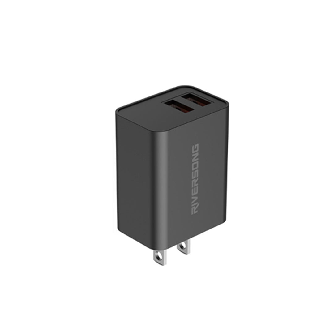 SAFE KUB D2 2.4A Wall Charger | Black | Riversong supertech.pk