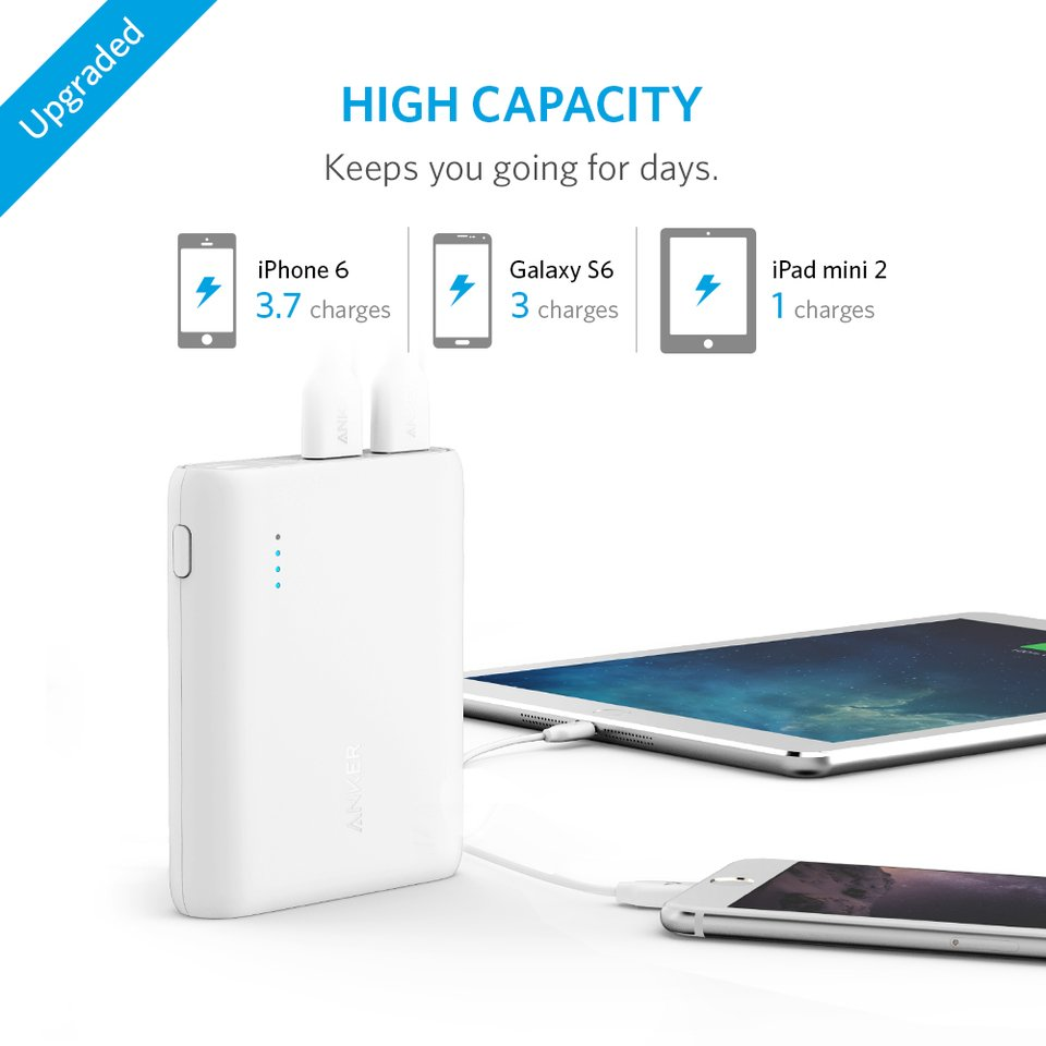 PowerCore 10400 Power Bank | White | Anker supertech.pk