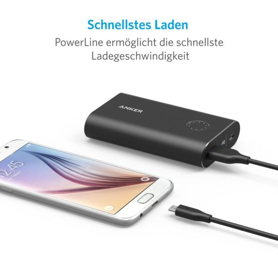 PowerLine Micro -USB 6ft | Black | Anker supertech.pk