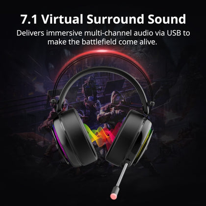 Glary Gaming Headset with 7.1 Virtual Sound | Black | Tronsmart supertech.pk