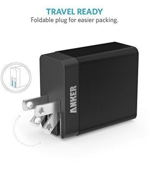 PowerPort 2 Lite USB Wall Charger | Black | Anker supertech.pk