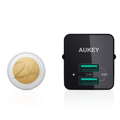 Mini Dual Port Wall Charger | PA-U32 | Black | Aukey supertech.pk
