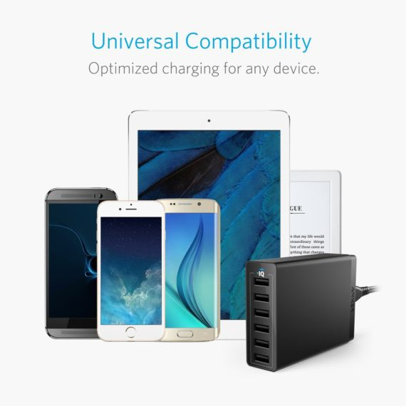 PowerPort 6 Desktop Charger | Black | Anker supertech.pk
