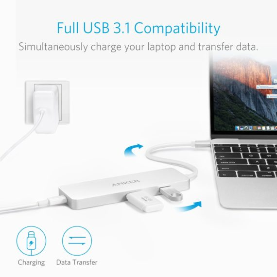 USB-C Hub with HDMI and Power Delivery | White | Anker supertech.pk