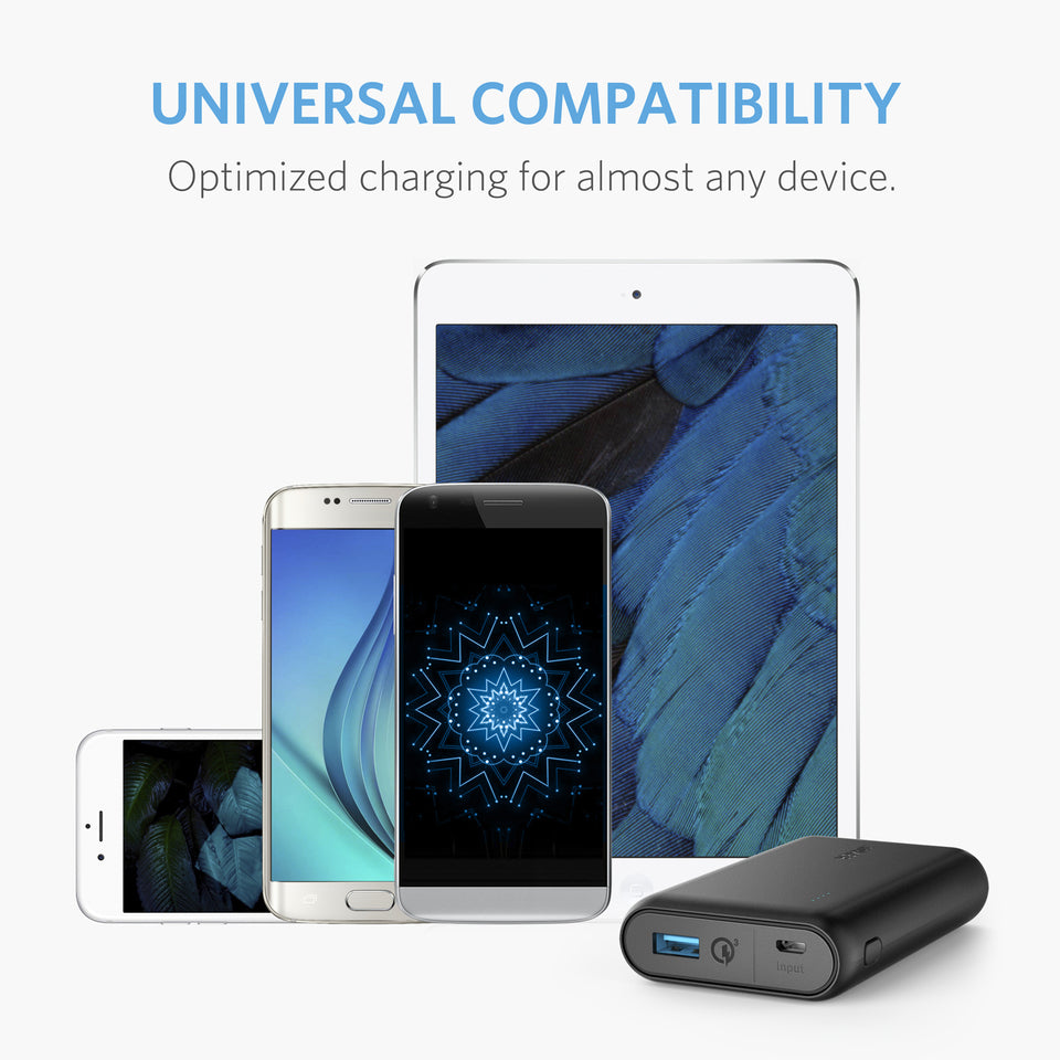 PowerCore Speed 10000 QC Power Bank | Black | Anker supertech.pk