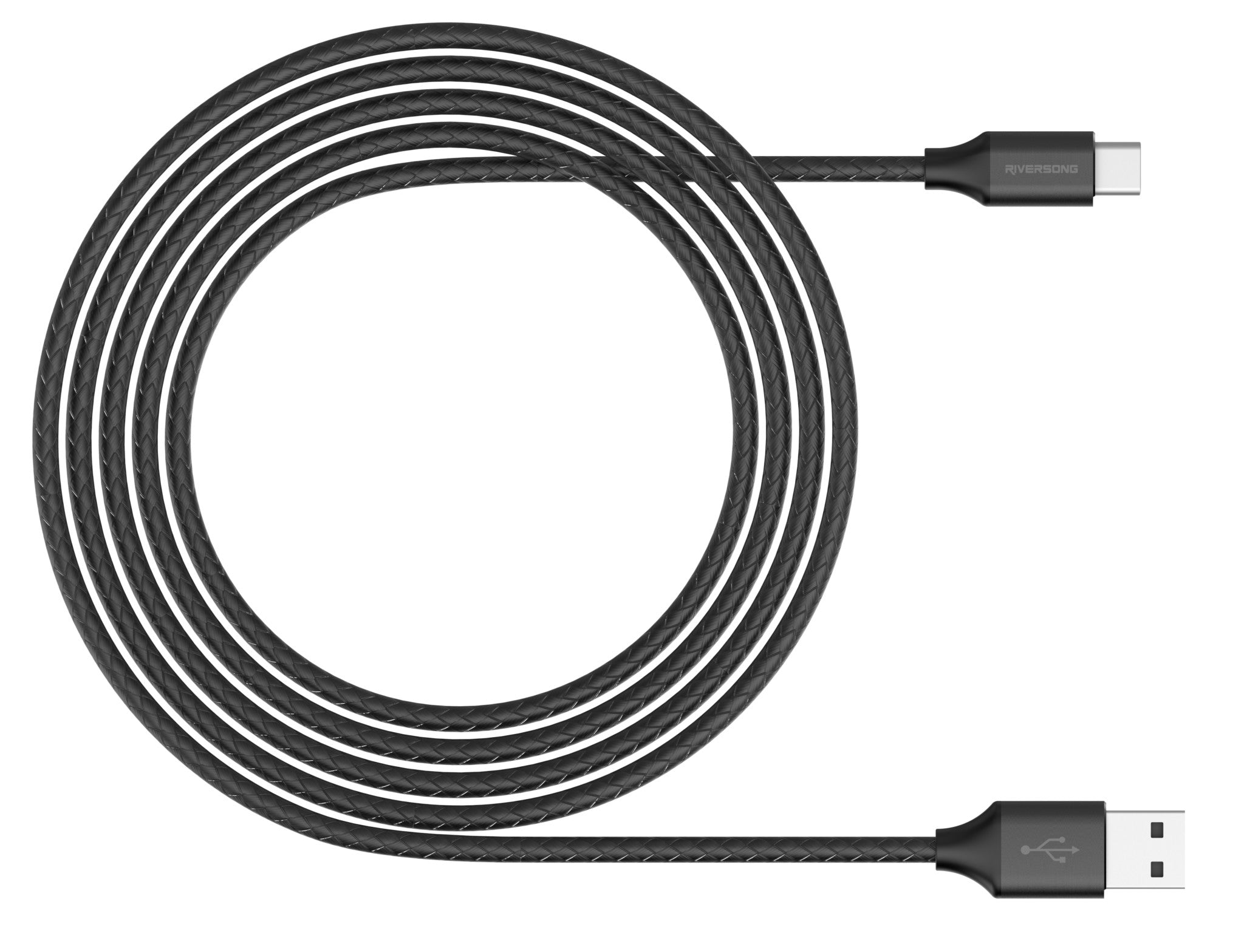SUPERLINE TYPE C USB 2.4A, 1 Meter Charging Cable | Black | Riversong supertech
