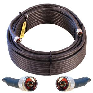 OPEK 100' FlexPro-400 Ultra Low Loss Coax Cable, Double Shielded and Solid Center Conductor (N Male - N Male Connectors)