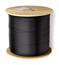 OPEK 500' Spool RG58U 50 Ohm Low Loss Coax Cable, Rated for Minus 40° C, Double Shielded and Solid Center Conductor