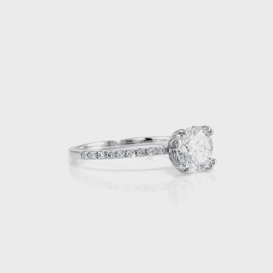 D&P Designs Eight Prong Solitaire Engagement Ring White Gold