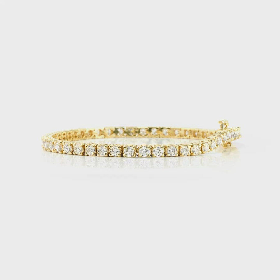 D&P Designs Four Prong Tennis Bracelet Yellow Gold
