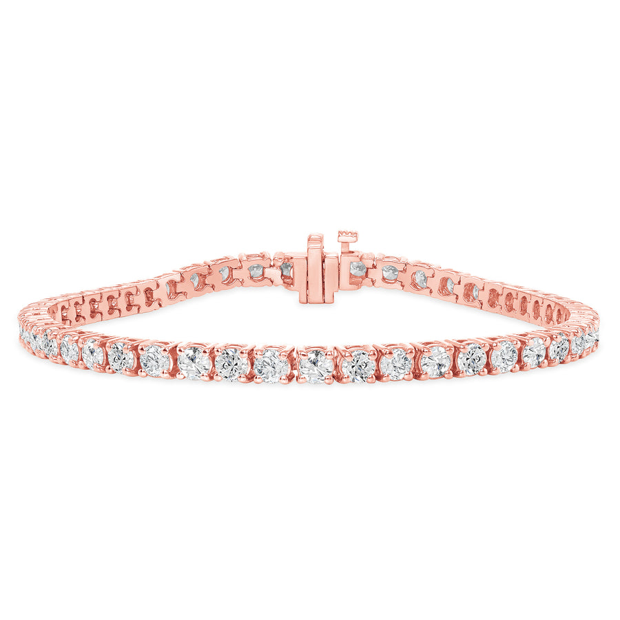 D&P Designs Four Prong Tennis Bracelet Rose Gold