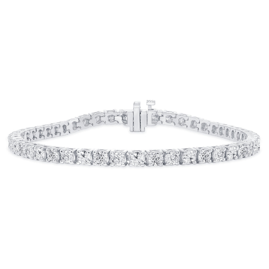 D&P Designs Four Prong Tennis Bracelet White Gold