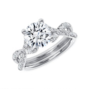Hugs and Kisses Solitaire Engagement Ring White Gold