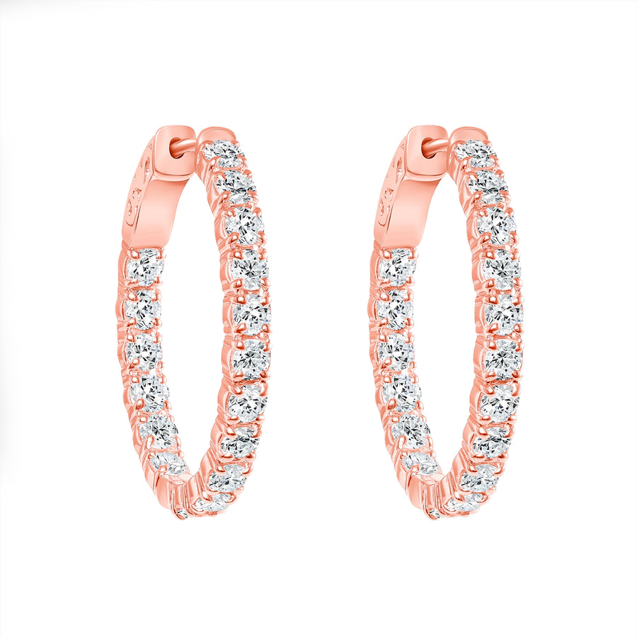 D&P In & Out Earrings Rose Gold