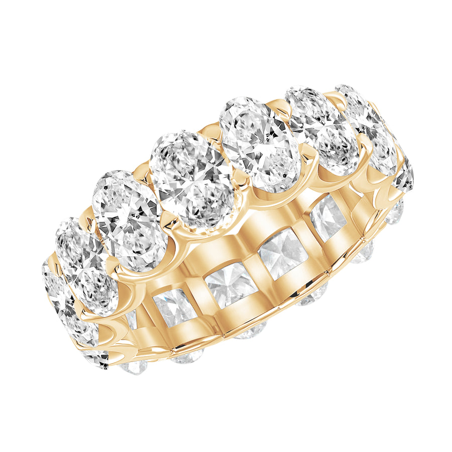 D&P Designs Oval Cut Eternity Band Yellow Gold