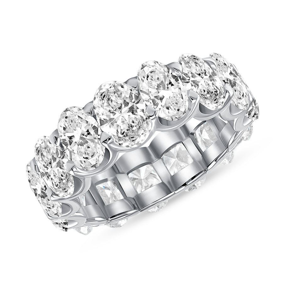 D&P Designs Oval Cut Eternity Band White Gold Platinum