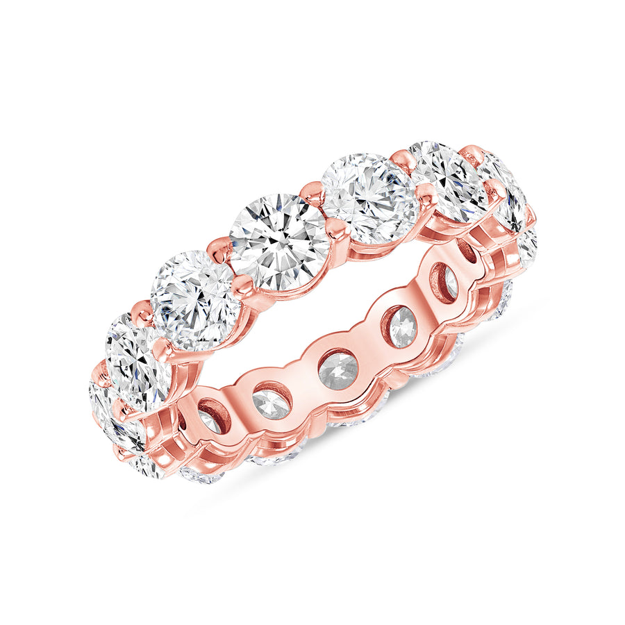 D&P Designs Round Brilliant Cut Eternity Band Rose Gold