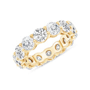 D&P Designs Round Brilliant Cut Eternity Band Yellow Gold