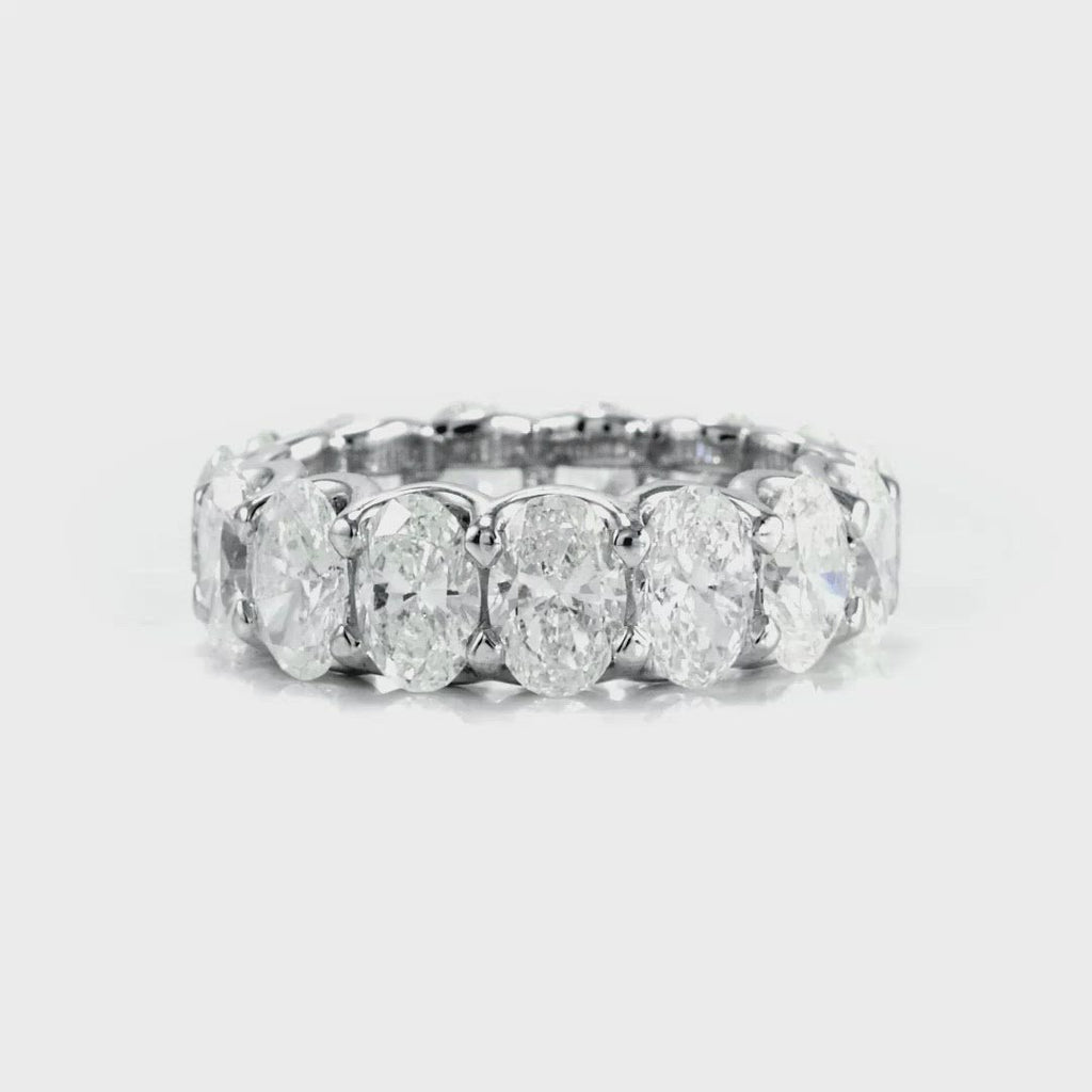 D&P Designs Oval Cut Eternity Band White Gold