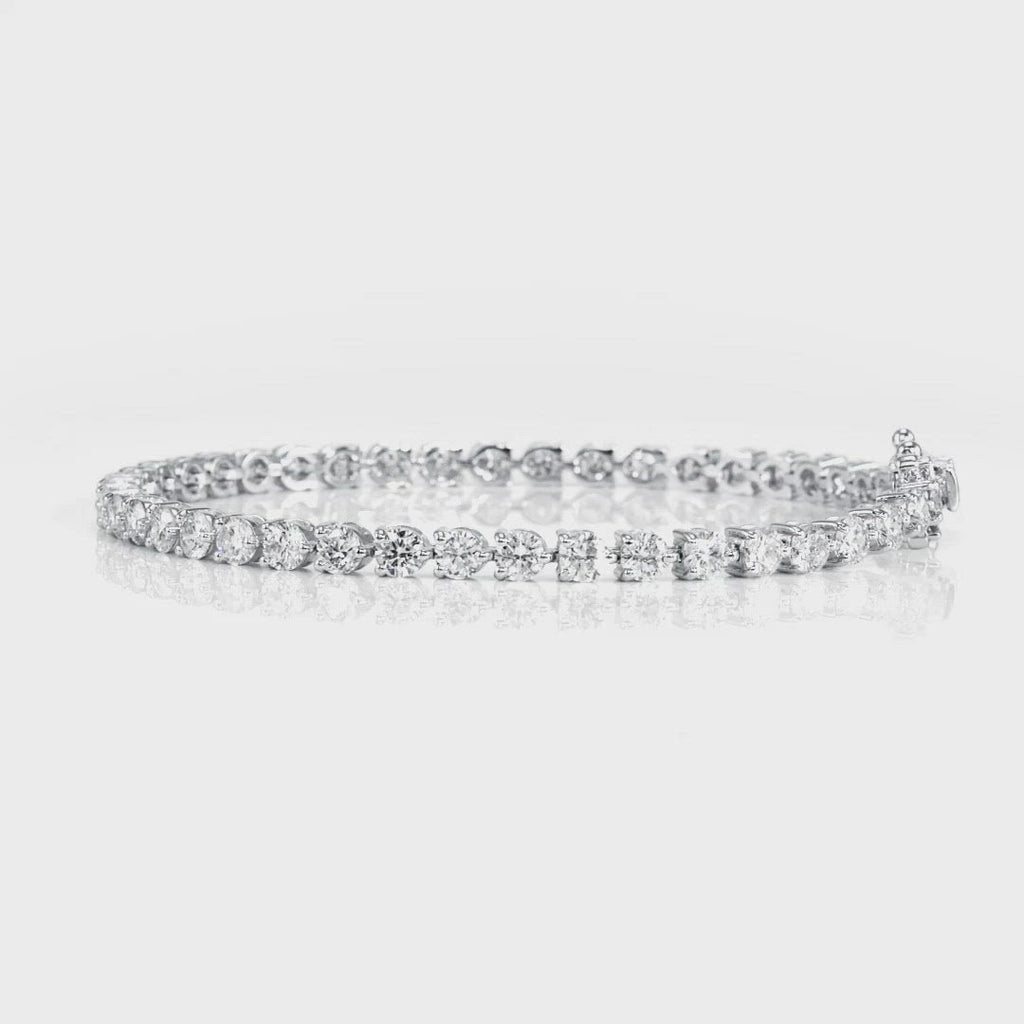 D&P Designs Three Prong Tennis Bracelet