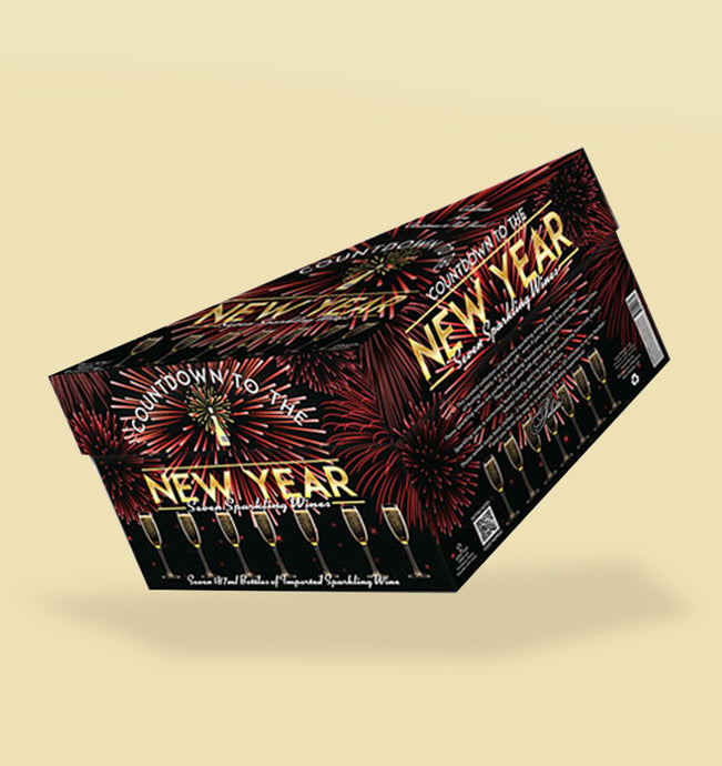 Countdown to the New Year 7 Bottle Sparkling Wine Gift Pack