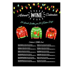 Holiday Sweater Wine Advent Calendar