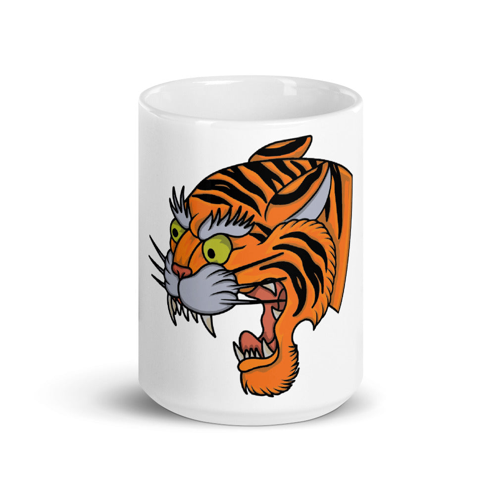 American Traditional Tiger Mug