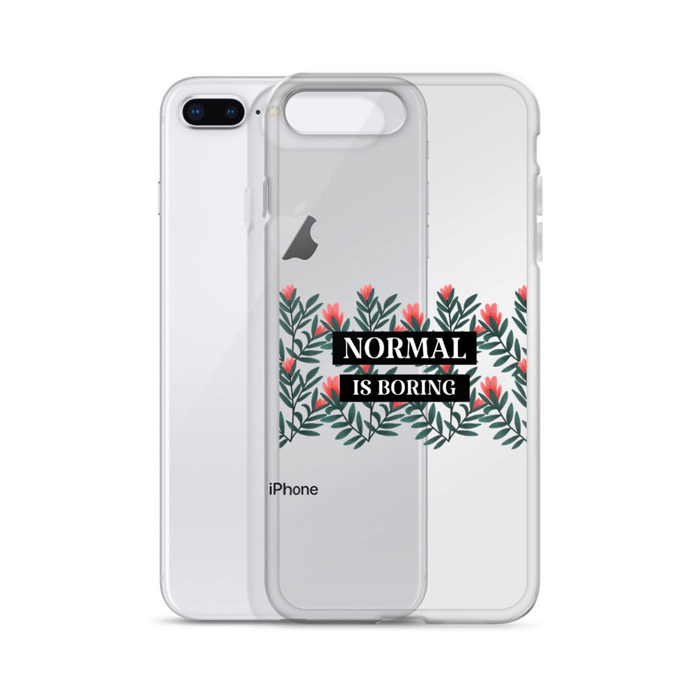 """NORMAL IS BORING"" iPhone Case"