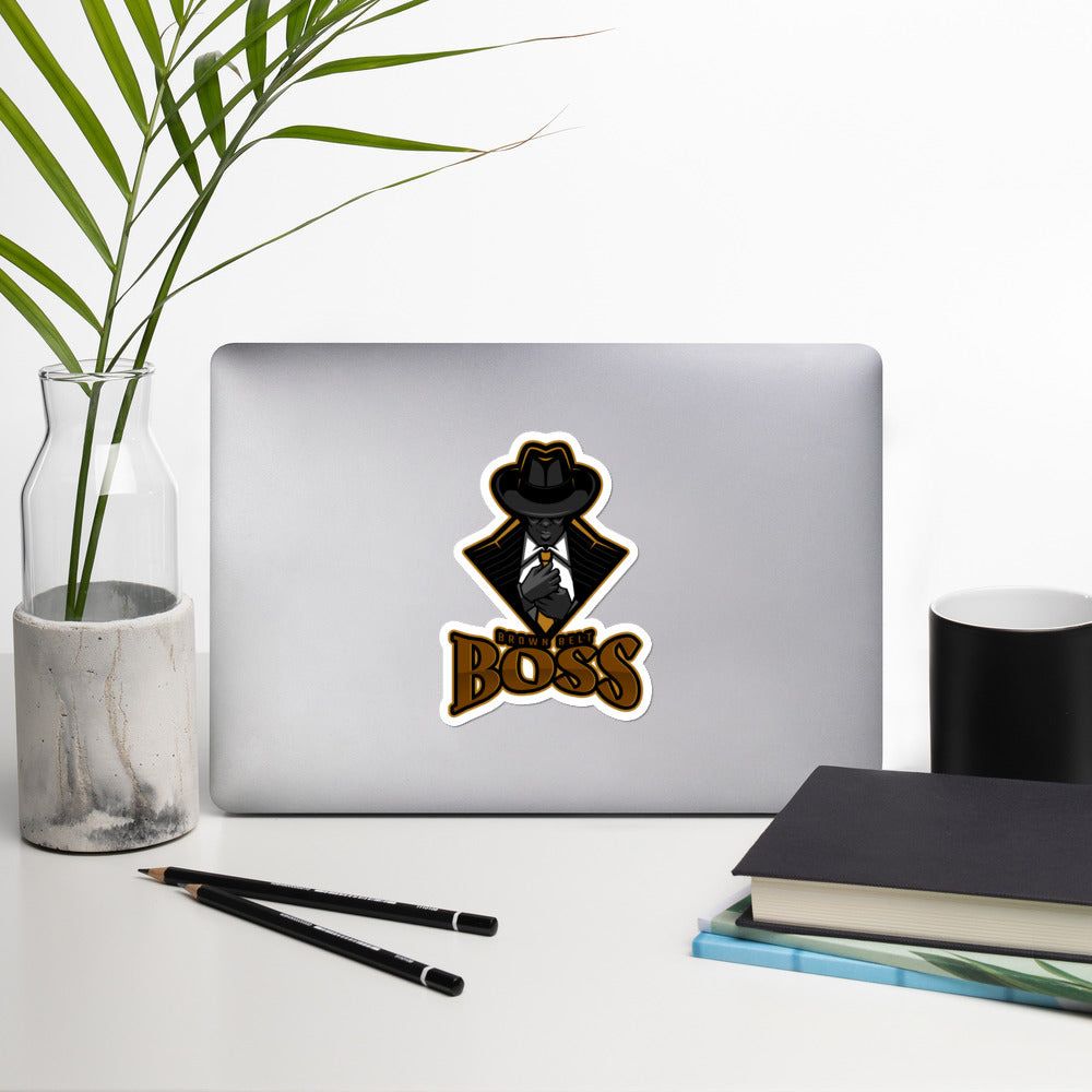 Brown Belt Boss Bubble-free stickers