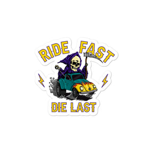 Open image in slideshow, Ride Fast Die Last Bubble-free stickers