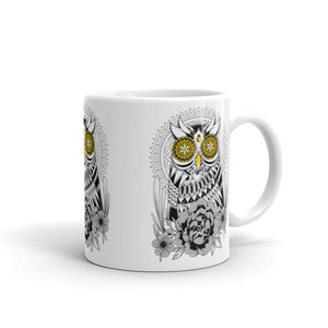 Open image in slideshow, Golden Eye's Owl Mug