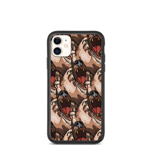 Open image in slideshow, American Traditional Bear Biodegradable phone case